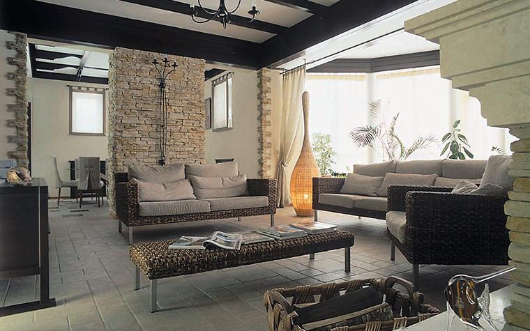 интерьер гостиной - фото № 3591