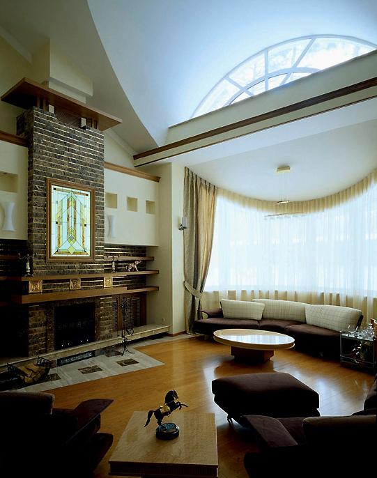 Фото № 3646 гостиная  Загородный дом