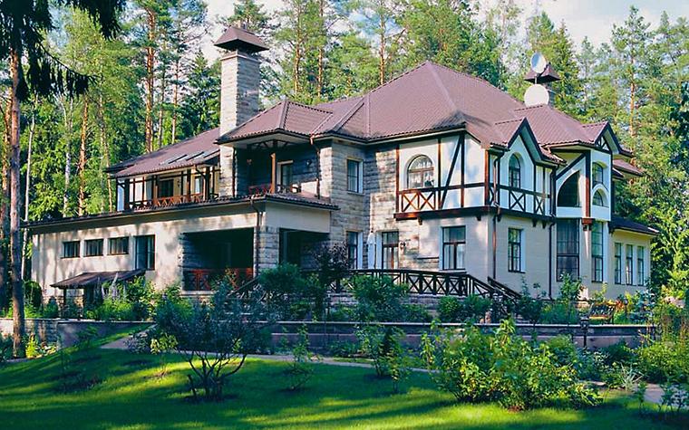 Загородный дом. фасад из проекта , фото №3742