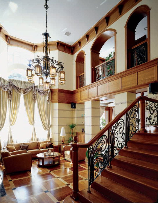 Загородный дом. гостиная из проекта , фото №3747