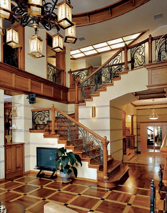 Загородный дом. холл из проекта , фото №3751