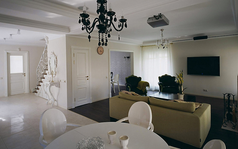 Загородный дом. гостиная из проекта , фото №5641