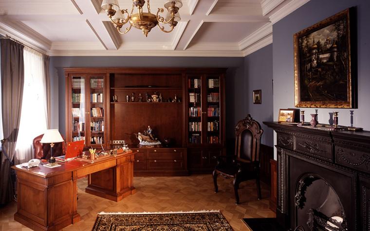 Фото № 6575 кабинет библиотека  Загородный дом