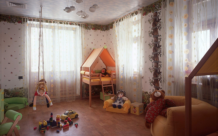 Загородный дом. детская из проекта , фото №6824