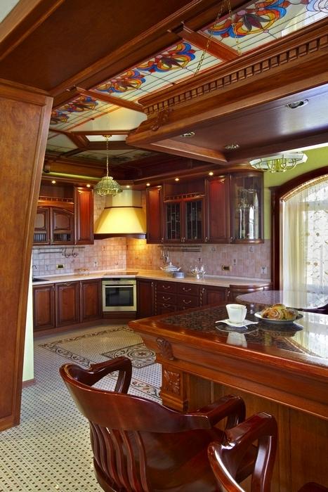 Загородный дом. кухня из проекта , фото №7115