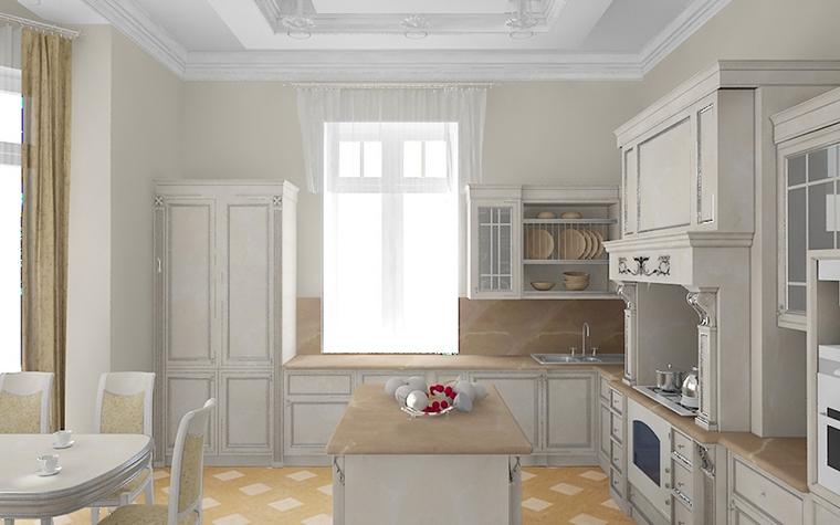 Фото № 8684 кухня  Загородный дом