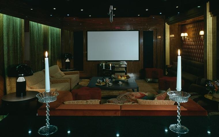 Загородный дом. домашний кинотеатр из проекта , фото №7363