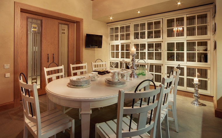 Фото № 7371 кухня  Загородный дом