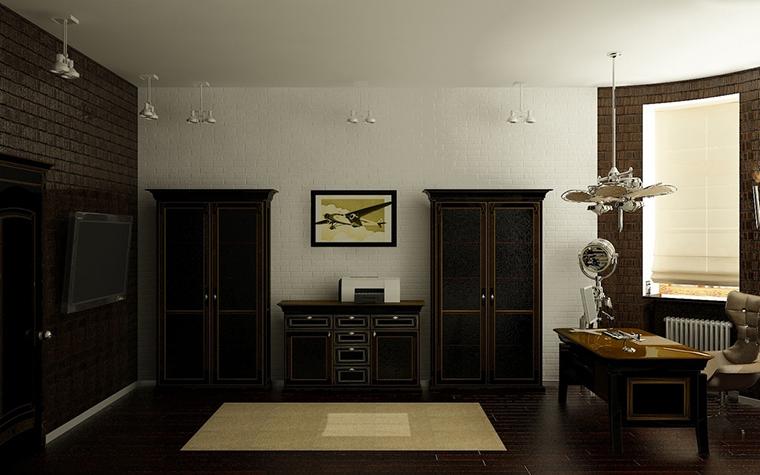 интерьер кабинета - фото № 7520