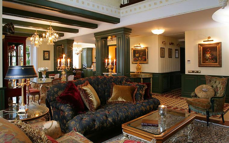 Фото № 7708 гостиная  Загородный дом