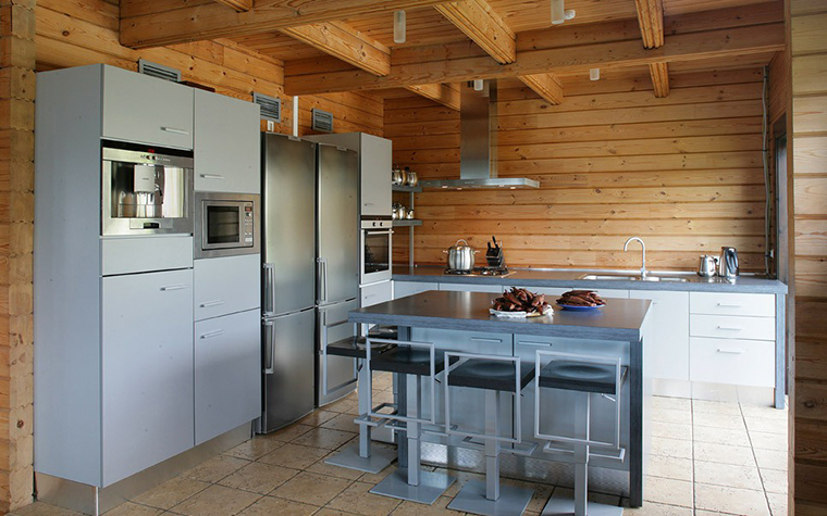 Фото № 7743 кухня  Загородный дом