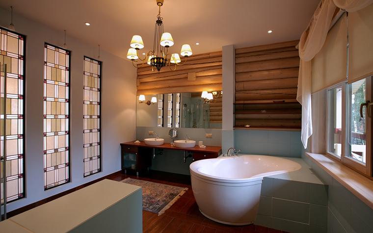 Загородный дом. ванная из проекта , фото №8176