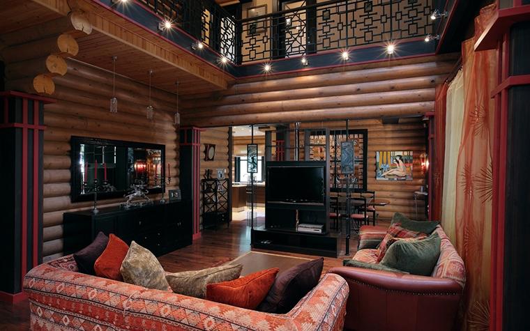 Загородный дом. гостиная из проекта , фото №8171