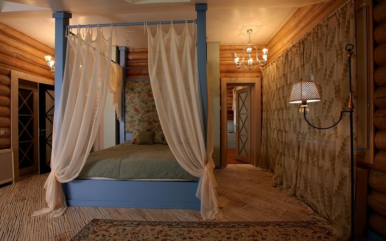 Фото № 8175 спальня  Загородный дом