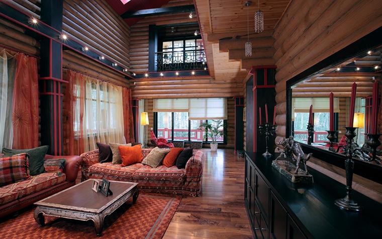 Загородный дом. гостиная из проекта , фото №8169