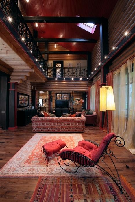 Загородный дом. гостиная из проекта , фото №8170
