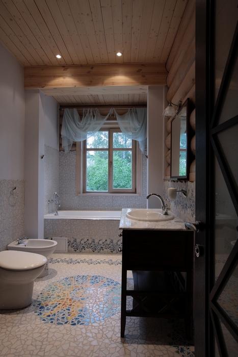 Загородный дом. ванная из проекта , фото №8177