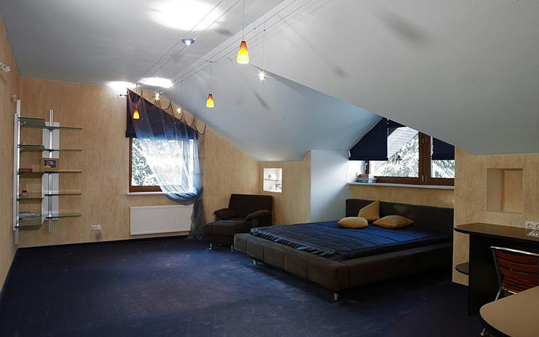 Загородный дом. спальня из проекта , фото №8182