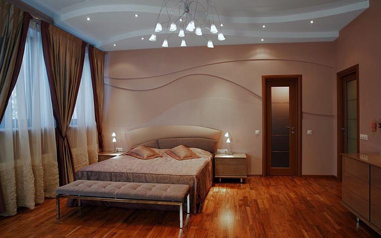 Загородный дом. спальня из проекта , фото №8183
