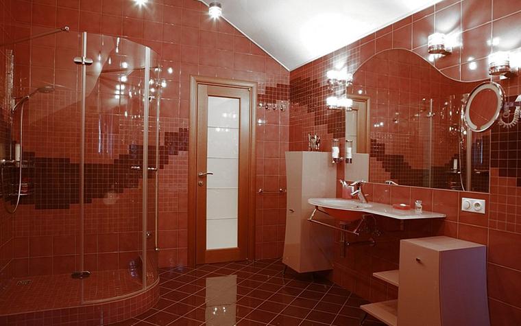 Загородный дом. ванная из проекта , фото №8191