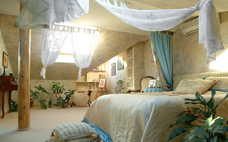 Загородный дом. спальня из проекта , фото №8313