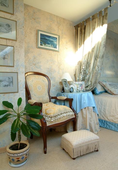 Загородный дом. спальня из проекта , фото №8314