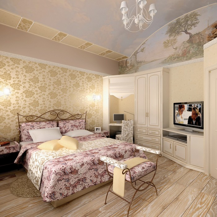 интерьер спальни - фото № 9000