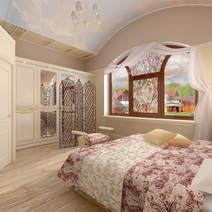 Фото № 9001 спальня  Загородный дом