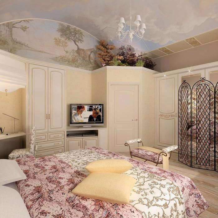Фото № 9002 спальня  Загородный дом