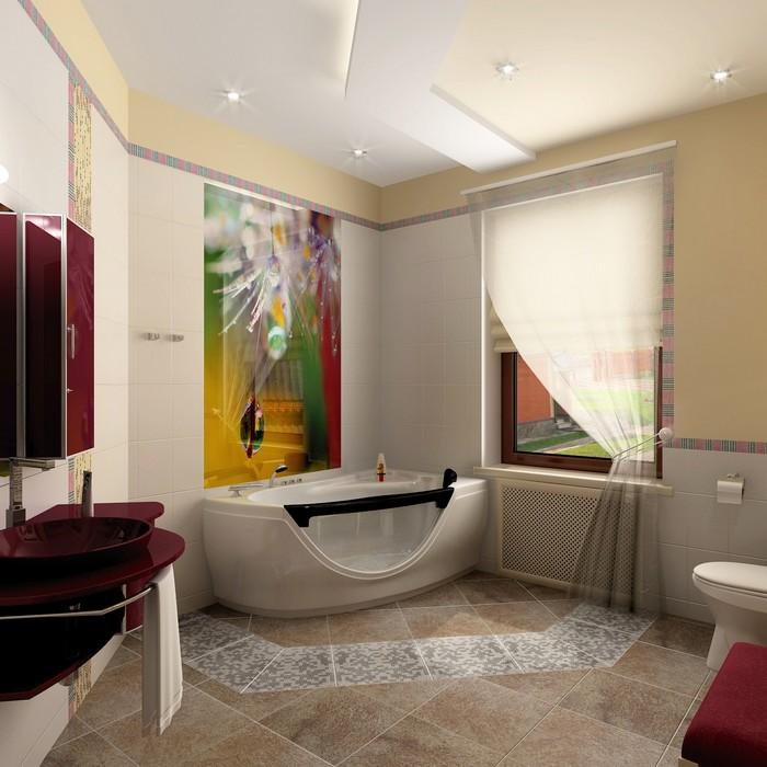 Загородный дом. ванная из проекта , фото №8982