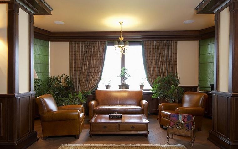 Фото № 9812 гостиная  Загородный дом