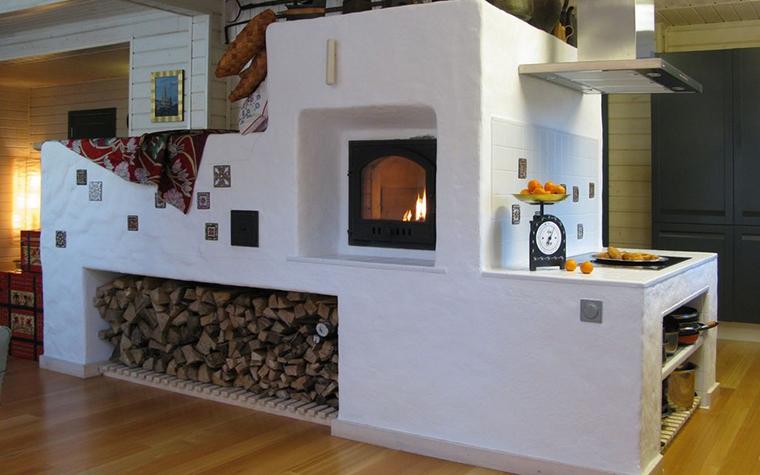 Фото № 9830 кухня  Загородный дом