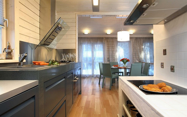 Фото № 9832 кухня  Загородный дом