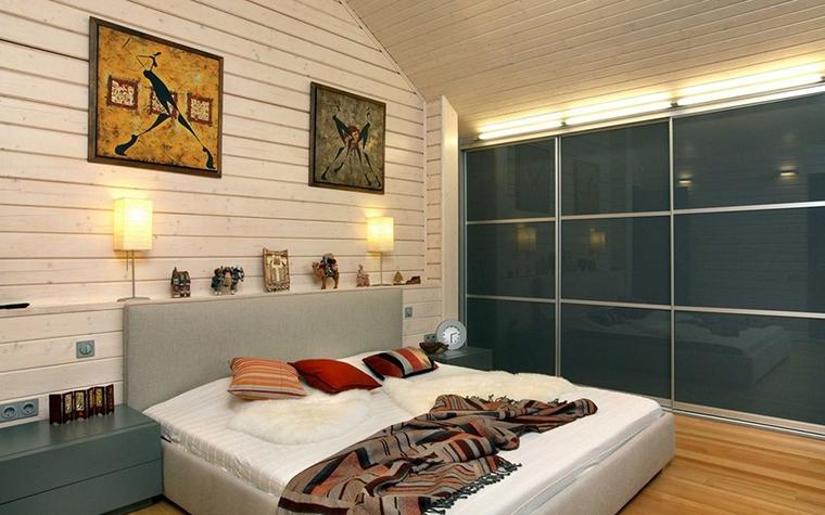 Фото № 9841 спальня  Загородный дом