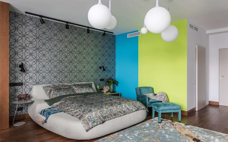 Загородный дом. спальня из проекта Исскусство цвета, фото №80719