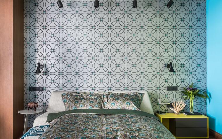 Загородный дом. спальня из проекта Исскусство цвета, фото №80720