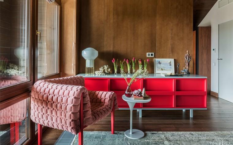 Загородный дом. гостиная из проекта Исскусство цвета, фото №80736