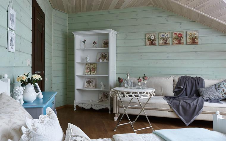 Загородный дом. спальня из проекта Дом из бруса Нежность, фото №80810