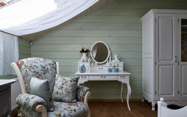 Загородный дом. спальня из проекта Дом из бруса Нежность, фото №80809