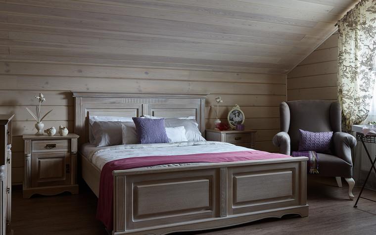 Загородный дом. спальня из проекта Дом из бруса Нежность, фото №80811