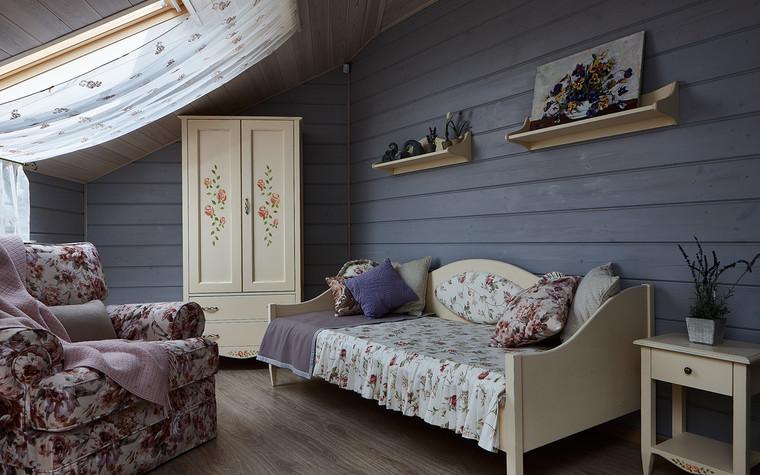 Загородный дом. спальня из проекта Дом из бруса Нежность, фото №80812