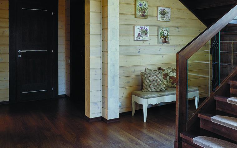 Загородный дом. холл из проекта Дом из бруса Нежность, фото №81275