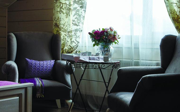 Загородный дом. спальня из проекта Дом из бруса Нежность, фото №81271