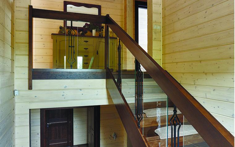 Загородный дом. холл из проекта Дом из бруса Нежность, фото №81268