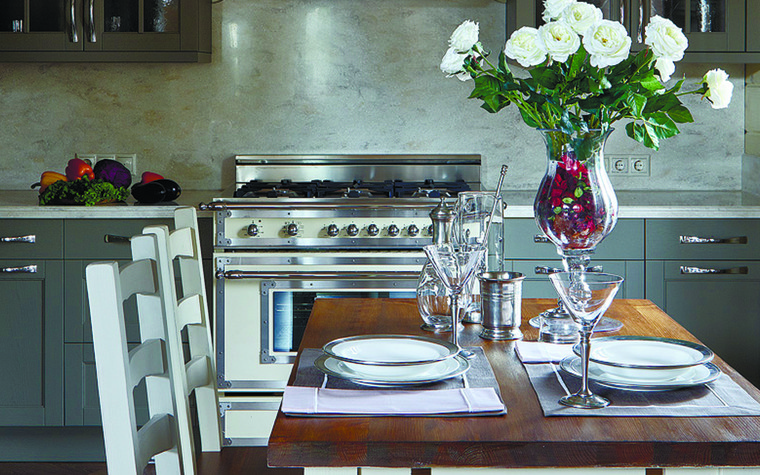 Загородный дом. кухня из проекта Дом из бруса Нежность, фото №81259