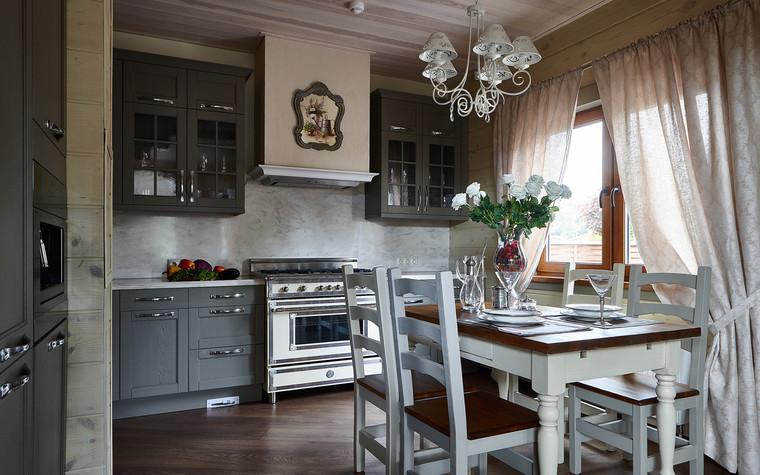 Загородный дом. кухня из проекта Дом из бруса Нежность, фото №80806
