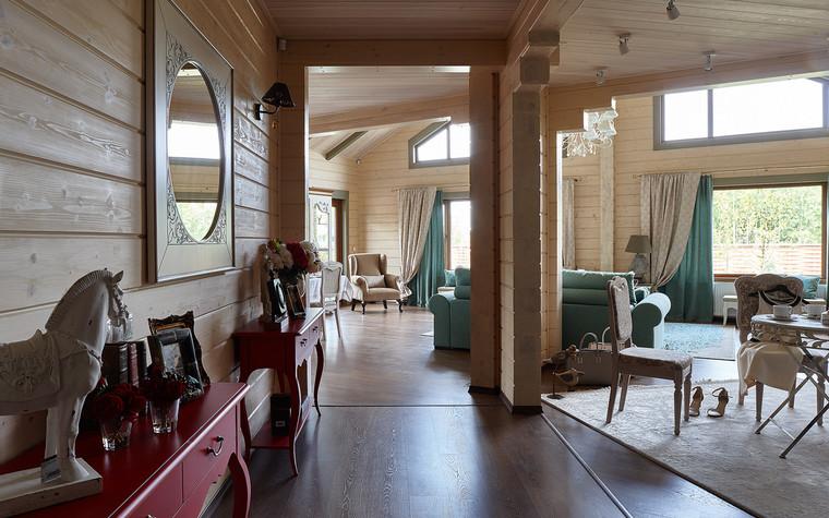 Загородный дом. гостиная из проекта Дом из бруса Нежность, фото №80804