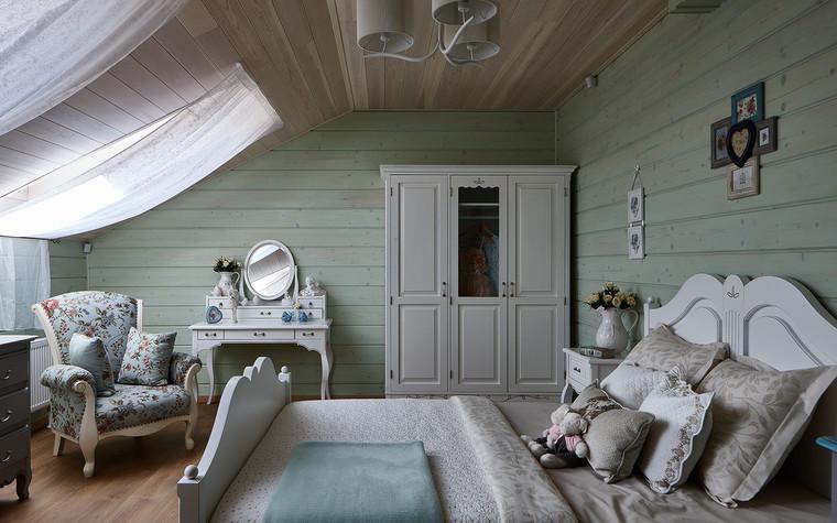 Загородный дом. спальня из проекта Дом из бруса Нежность, фото №80808