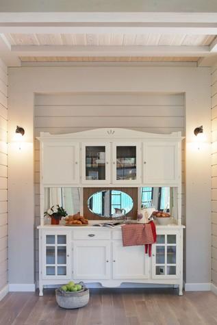 Загородный дом. столовая из проекта Дом из клееного бруса в стиле прованс, фото №80963