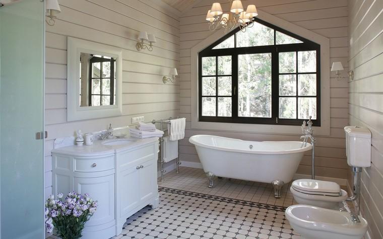 Загородный дом. ванная из проекта Дом из клееного бруса в стиле прованс, фото №80968